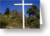 Wayside Greeting Cards - Crosses Greeting Card by Bernard Jaubert