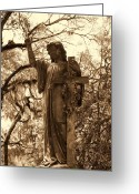 Still Life Sculpture Greeting Cards - Crossing Angel Greeting Card by Gina Longo