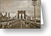 Twin Towers World Trade Center Greeting Cards - Crossing Over Greeting Card by Joann Vitali