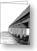 Florida Bridge Digital Art Greeting Cards - Crossing Over Greeting Card by Kendra Clayton