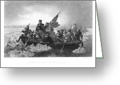 Delaware River Greeting Cards - Crossing The Delaware Greeting Card by Granger