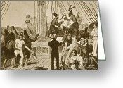 Draftsman Greeting Cards - Crossing The Equator, Hms Beagle, 1832 Greeting Card by Science Source