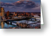 Mt. Washington Greeting Cards - Crossing the Monongahela Greeting Card by David Hahn