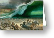 Soldiers Painting Greeting Cards - Crossing the Red Sea Greeting Card by Anonymous