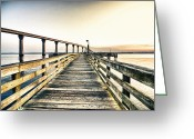 Crabbing Greeting Cards - Crossing the River  Greeting Card by Kelly Reber
