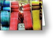 Fire Hose Greeting Cards - Crosslays  Greeting Card by Drew Castelhano