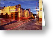 Cantina Greeting Cards - Crossroads Greeting Card by Jeremy Woodhouse