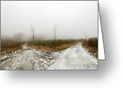 Dismal Greeting Cards - Crossroads Greeting Card by Michal Boubin