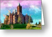 Syracuse Greeting Cards - Crouse College Greeting Card by Anthony Caruso