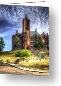 Syracuse Greeting Cards - Crouse Memorial College Building at Syracuse University Greeting Card by Vicki Jauron