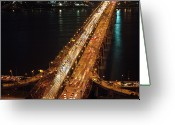 Long Street Photo Greeting Cards - Crowded Bridge Greeting Card by SJ. Kim
