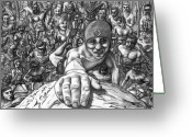 Cheering Greeting Cards - Crowded Crag Greeting Card by Rick Ritchie