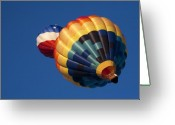 Hot Air Balloon Photo Greeting Cards - Crowded Pattern Greeting Card by Mike  Dawson