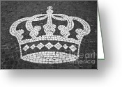 Royalty Greeting Cards - Crown Greeting Card by Gaspar Avila