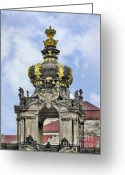 Baroque Greeting Cards - Crown Gate - Kronentor Zwinger Palace Dresden Greeting Card by Christine Till