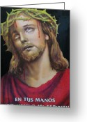 Color Image Painting Greeting Cards - Crown of Christ Greeting Card by Unique Consignment