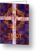 Thorns Greeting Cards - Crown Of Thorns Greeting Card by Mark Jennings