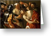 Torture Greeting Cards - Crowning with Thorns Greeting Card by Dirck van Baburen