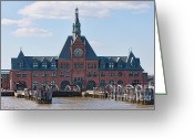 Central Jersey Greeting Cards - CRRNJ Terminal Exterior Greeting Card by Clarence Holmes