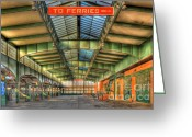 Central Jersey Greeting Cards - CRRNJ Terminal I Greeting Card by Clarence Holmes