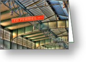 Central Jersey Greeting Cards - CRRNJ Terminal IV Greeting Card by Clarence Holmes