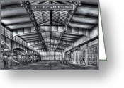 Central Jersey Greeting Cards - CRRNJ Terminal V Greeting Card by Clarence Holmes