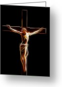 Forgiveness Greeting Cards - Crucified Jesus Greeting Card by Stefan Kuhn