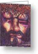Sacrificial Greeting Cards - Crucifixion. Master Fully Done Greeting Card by Jean-Marie Poisson