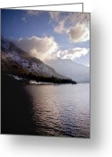 Lake Photographs Greeting Cards - Cruise on calm waters Greeting Card by Anthony Citro