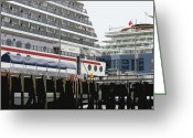 Cruise Ships Greeting Cards - Cruise Ships Greeting Card by Mindy Newman
