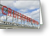 Large Steel Cross Greeting Cards - Cruiseport Boston Skyline Greeting Card by Luke Moore