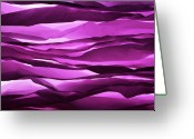 Still Life Greeting Cards - Crumpled Sheets Of Purple Paper. Greeting Card by Ballyscanlon