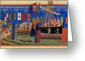 Warship Greeting Cards - CRUSADES 14th CENTURY Greeting Card by Granger