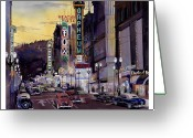 Drag Greeting Cards - Crusin Broadway in the Fifties Greeting Card by Mike Hill
