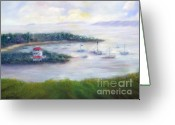 Bay Islands Pastels Greeting Cards - Cruz Bay Remembered Greeting Card by Loretta Luglio