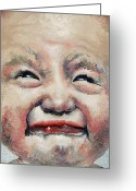 Forceful Greeting Cards - Cry Baby Greeting Card by Brian Carlton