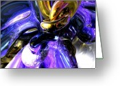Heaven Digital Art Greeting Cards - Crystalized Ecstasy Abstract  Greeting Card by Alexander Butler