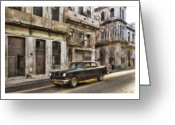 Car Photographs Greeting Cards - Cuba 01 Greeting Card by Marco Hietberg