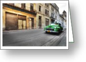 Car Photographs Greeting Cards - Cuba 02 Greeting Card by Marco Hietberg