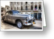 Car Photographs Greeting Cards - Cuba 03 Greeting Card by Marco Hietberg