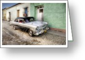 Car Photographs Greeting Cards - Cuba 04 Greeting Card by Marco Hietberg