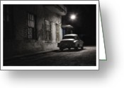 Old Postcards Greeting Cards - Cuba 05 Greeting Card by Marco Hietberg