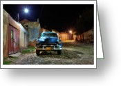 Car Photographs Greeting Cards - Cuba 09 Greeting Card by Marco Hietberg
