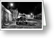 Silver And Black Greeting Cards - Cuba 10 Greeting Card by Marco Hietberg