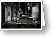 Old Postcards Greeting Cards - Cuba 20 Greeting Card by Marco Hietberg
