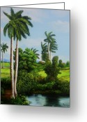 Dominica Alcantara Greeting Cards - Cuban Landscape Greeting Card by Dominica Alcantara