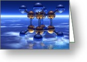 Most Greeting Cards - Cubane Molecule Greeting Card by Laguna Design