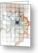 Abstract Flowers Greeting Cards - Cubed Pastels Greeting Card by Amanda Moore