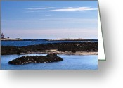 Lighthouse Artwork Greeting Cards - Cuckolds Lighthouse Greeting Card by Skip Willits