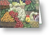 Wicker Baskets Greeting Cards - Cucumbers Please Greeting Card by Joseph Carragher
